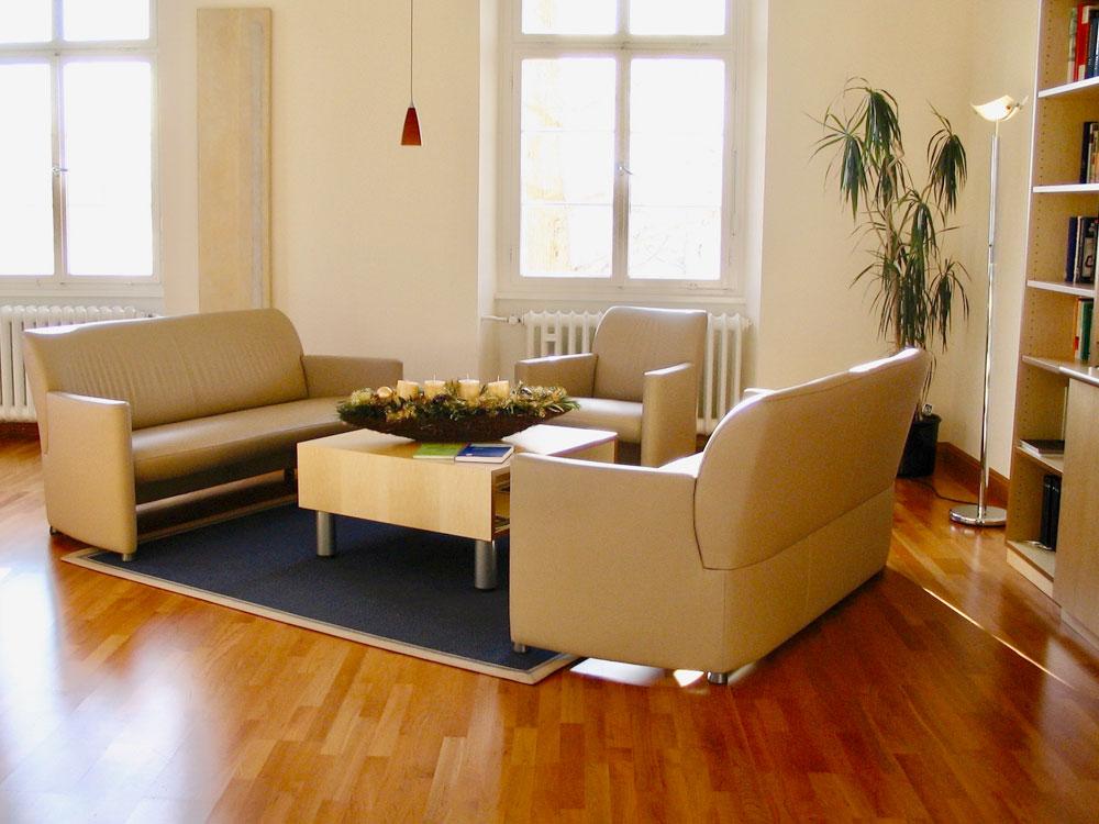 Angenehme Gesprächsatmosphäre bei der Geschäftsführung / Umbau in Überlingen